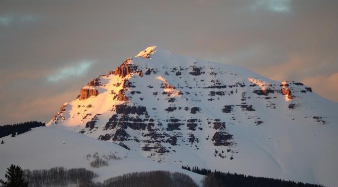 Alpenglow on Teocalli